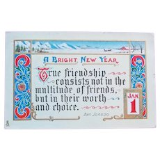 RAPHAEL TUCK Signed Antique NEW YEAR Postcard