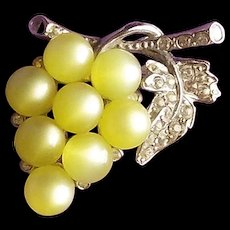 Moonglow Lucite GRAPES Vintage Pin Brooch - Red Tag Sale Item