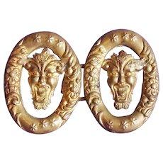 Antique DEVIL Brass Sash or Belt Buckle