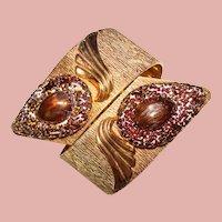 Fabulous VARGAS Signed Vintage ART GLASS Bracelet
