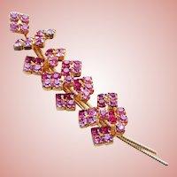Gorgeous PINK RHINESTONE Vintage Pin Brooch