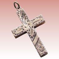 Gorgeous Victorian Cross Antique Pendant