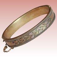Fabulous VICTORIAN Antique Hinged Bangle Bracelet