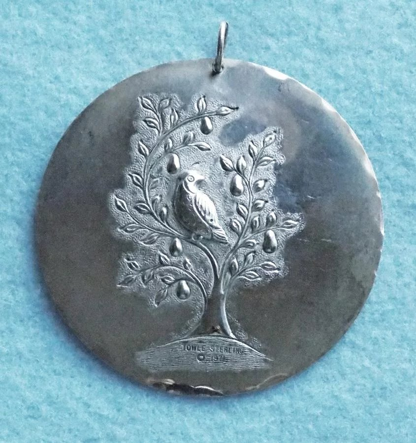 Sterling Towle 1971 Christmas Ornament Partridge & Dove ...
