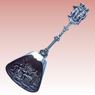 Vintage 835 Silver Detailed Dutch Shovel Spoon
