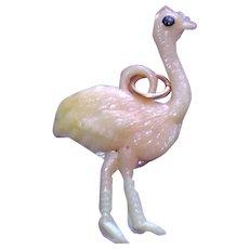 Vintage Celluloid Ostrich Charm