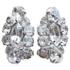 Gorgeous Kramer Rhinestone Vintage Earrings