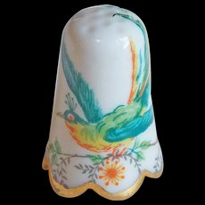 Vintage Bird Porcelain Thimble