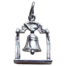 Sterling Bicentennial Liberty Bell Mechanical Charm