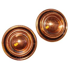 Gorgeous RENOIR Vintage Copper Clip Earrings