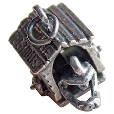 Sterling Mon in Dog House Mechanical Vintage Charm
