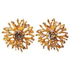 Fabulous KJL Kenneth Jay Lane Avon Rhinestone Clip Earrings