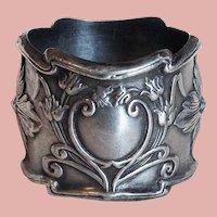 Antique Sterling Art Nouveau Napkin Ring