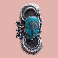 Fabulous Sterling & Turquoise Vintage Pendant