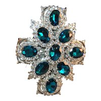 Thorin & Company Layered Rhinestone Haute Couture Designer Brooch