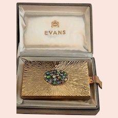 EXCEPTIONAL Rare Evans Compact Combination Purse In Original Box w/Rhinestones