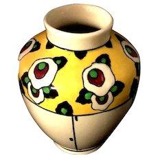 Boch Freres La Louviere Catteau Belgium Art Deco Art Pottery Glazed Dynamic Vase