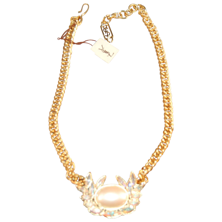 4e928976182 Vintage Yves St. Laurent YSL Simulated Pearl & Rhinestone Designer : It's  All About The Bling | Ruby Lane