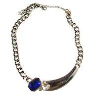 Vintage Signed Parklane Rhinestone Inset Mid Century Necklace & Earrings!