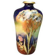 """Antique Exceptional Turn Teplitz Austria """"Riessner, Stellmacher, and Kessel Amphora Gilded Vase!"""