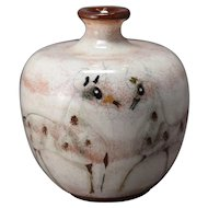 Fabulous Pillin Art Pottery Round Vase Decorated w/Stylized Horses! Beautiful;!