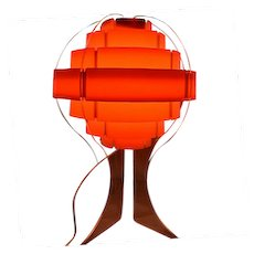 RARE BEST Mid-Century Modern Lucite & Composite Shade Vintage Table Lamp!
