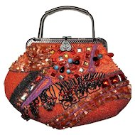 Outrageous Vintage Rhinestone, Sequin, Beaded Vintage Handbag/Purse