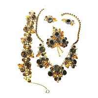 Stunning Juliana DeLizza & Elster Necklace, Bracelet, Brooch & Earring Book Set