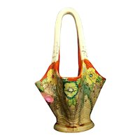 RARE Original Clarice Cliff Bizarre Delicia Art Deco Art Pottery England Basket