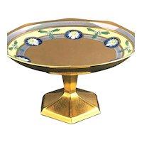 "RARE Pickard Art Nouveau Encrusted Linear Enameled ""Daisy"" Medallion Compote"
