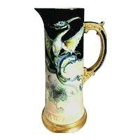 SUPERB HUGE CAC Belleek Hand Decorated Beautiful Dragon Tankard
