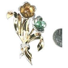 Exquisite Marcel Boucher Phrygian Cap Mark Flower Bouquet Brooch