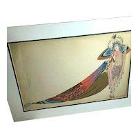 RARE Original French Zig (Louis Gaudin) Salome Art Deco Fashion Gouache Illustration