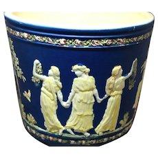 Weller American Art Pottery Blue Ware Dancing Grecian Lady Jardinere!