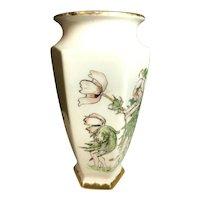 Rare Bernardaud & Co. Hand Decorated Limoges France Flower Fairies Large Vase