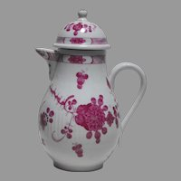 Ca 1790 Hand Painted Porcelain Lidded Pot