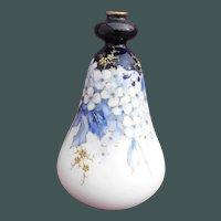 Amphora Blue and White Gourd Shape Floral Vase with Raised Gold Enamel RStK Turn-Teplitz