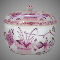 Meissen Marcolini Period Sugar Bowl and Cover Indian Painting Early Kakiemon Banded Hedge Pattern