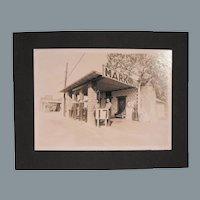 Original Old Gelatin Silver Print Photograph of an Oklahoma Gas Station -Gas 17 cents a Gallon