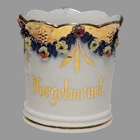 Fancy Forget Me Not Sentiment Porcelain Mug