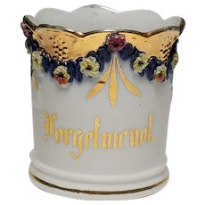 Fancy Forget Me Not Sentiment Porcelain Mug