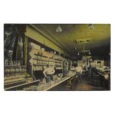 Postcard Interior Busjahn and Schneider Drug Store - Logansport, Indiana