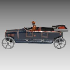 Georg Fischer Lithographed Tin Penny Toy Open Touring Car with Driver Germany