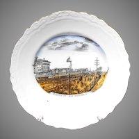 The 'New' Atlantic City Boardwalk Large Souvenir China Plate