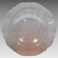 Pair Pink Macbeth-Evans Glass American Sweetheart Flat Soup Bowls