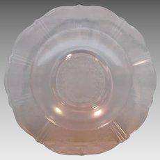 Pair Pink Macbeth-Evans Glass American Sweetheart Flat Soup Bowls
