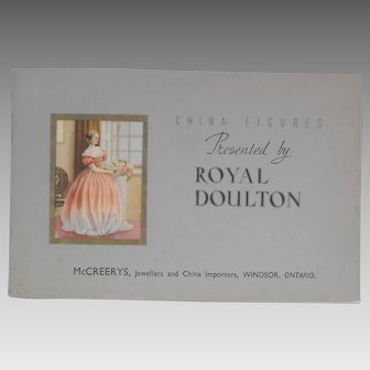 China Figures Presented By Royal Doulton - 1940 McCreerys Jewellers Paper Product Catalog w/ Original Price List