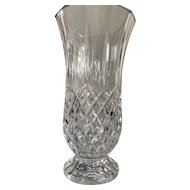 "Vintage Waterford Lismore Crystal Pedestal 10"" Vase"