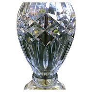 Vintage Waterford Cut Crystal Table Lamp