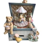 San Francisco Music Box Company Animated Toy Chest Carousel